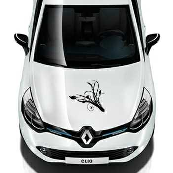 Ornament flowers design Renault Decal