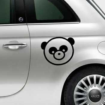 Panda Fiat 500 Decal