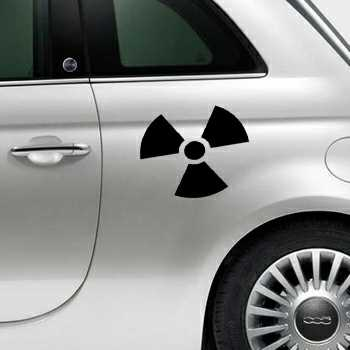Nuclear Fiat 500 Decal