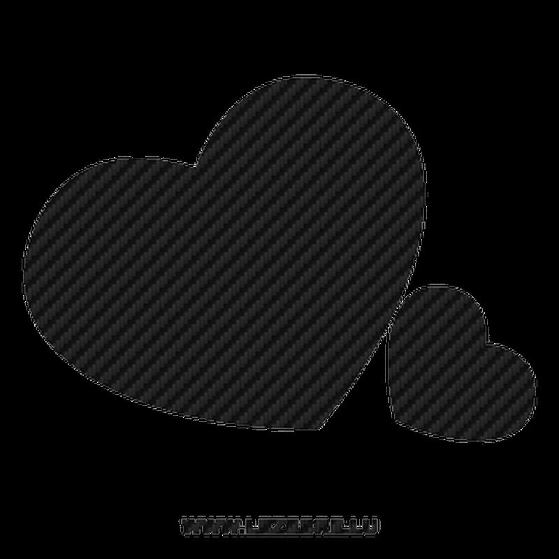Sticker carbone coeurs amoureux - Coeurs amoureux ...
