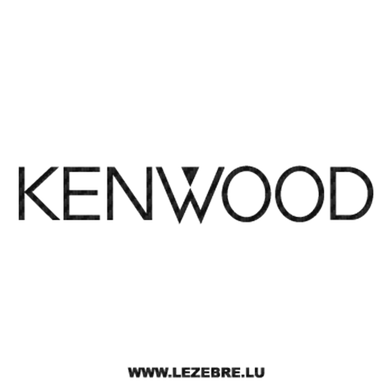 Kenwood Logo Carbon Decal 2