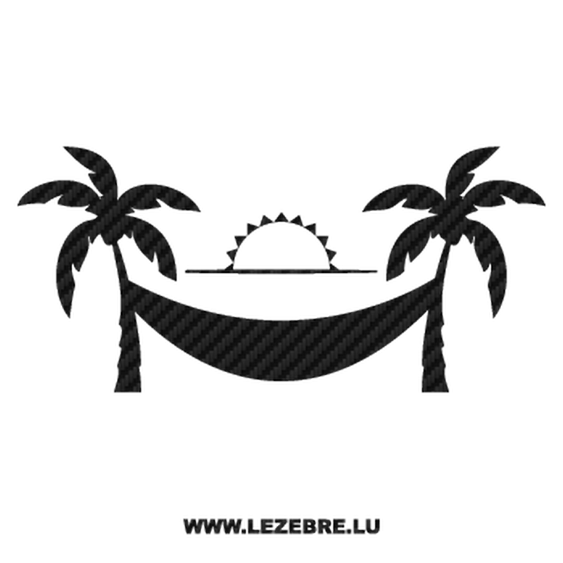 Palm Island Sun Carbon Decal