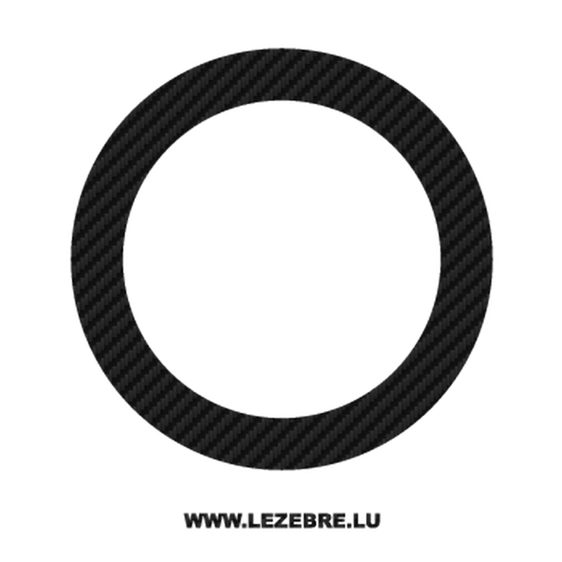 Sticker Carbone Deco Cercle