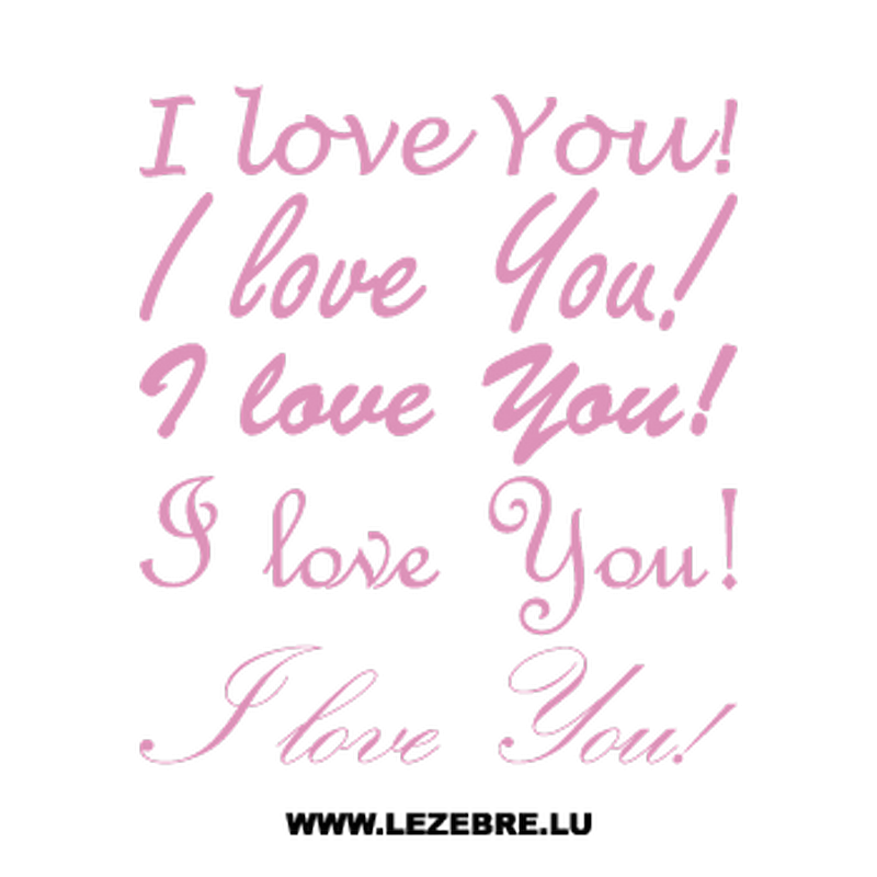 I Love You! Decal Set