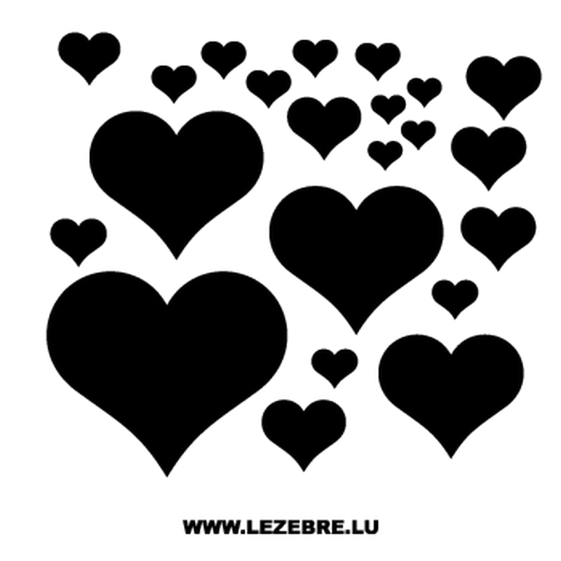Hearts Decal Set