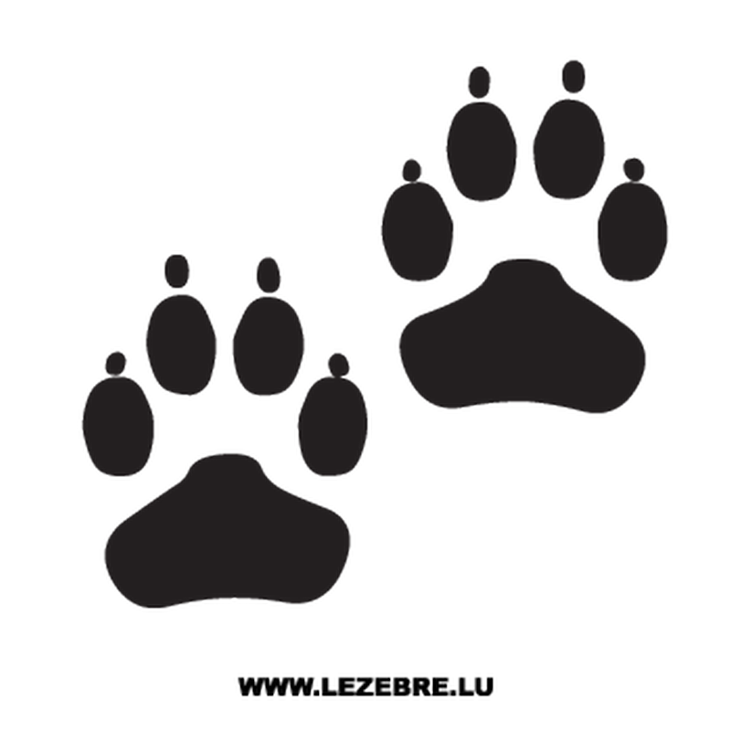 Dog paws Decal