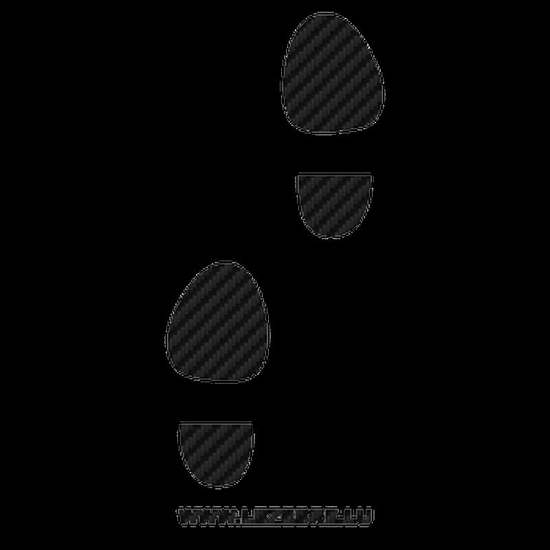 Shoe print Carbon Decal