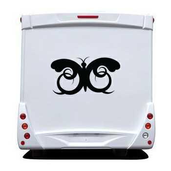 Sticker Wohnwagen/Wohnmobil Schmetterling Ornament
