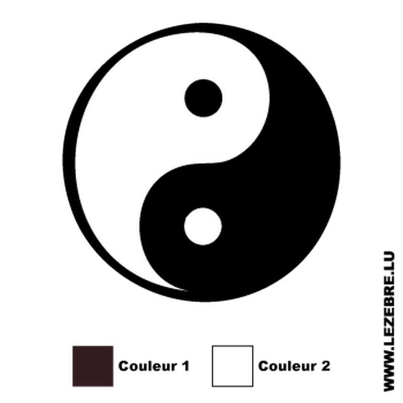 Sticker yin et yang for Deco yin yang