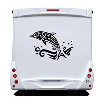 Tribal Dolphin Camping Car Decal