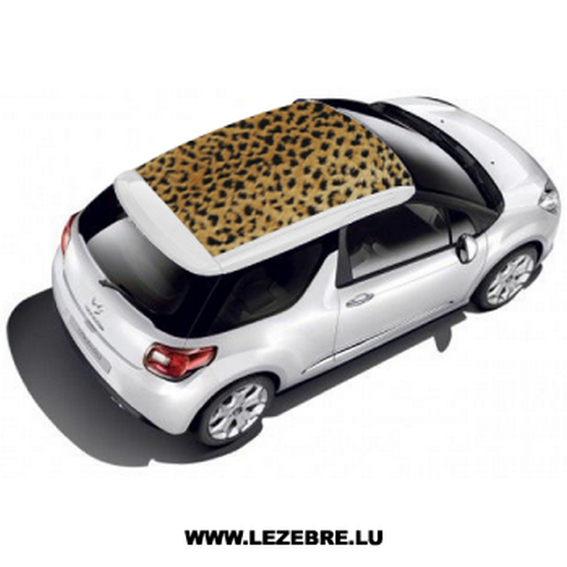 autocollant toit auto peau leopard. Black Bedroom Furniture Sets. Home Design Ideas
