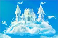 Sticker châtEau de nuage