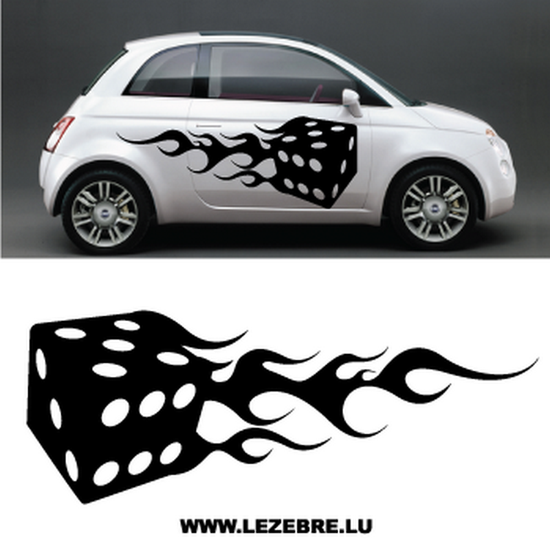 Set of 2 Flame Dice decals