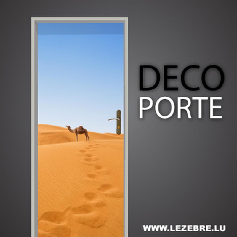Camel door decal