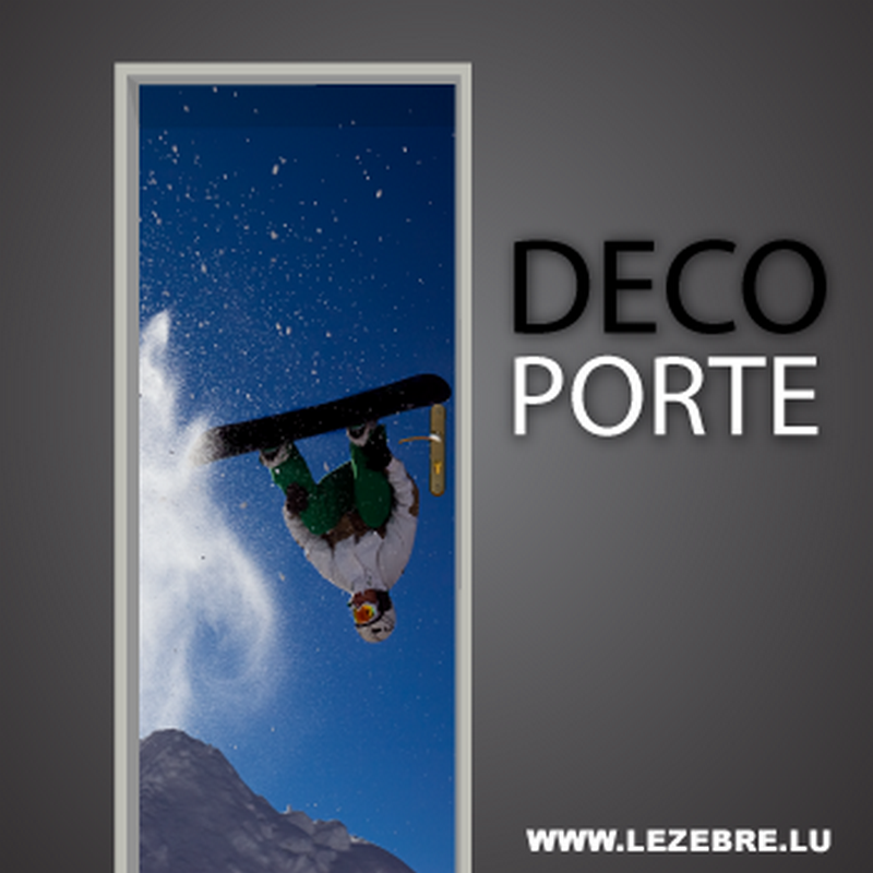 Snowboard door decal