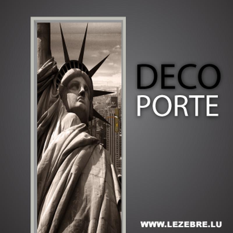 Statue of Liberty door decal