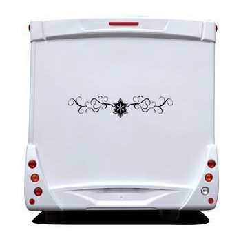 Flower Ornament Camping Car Decal 10