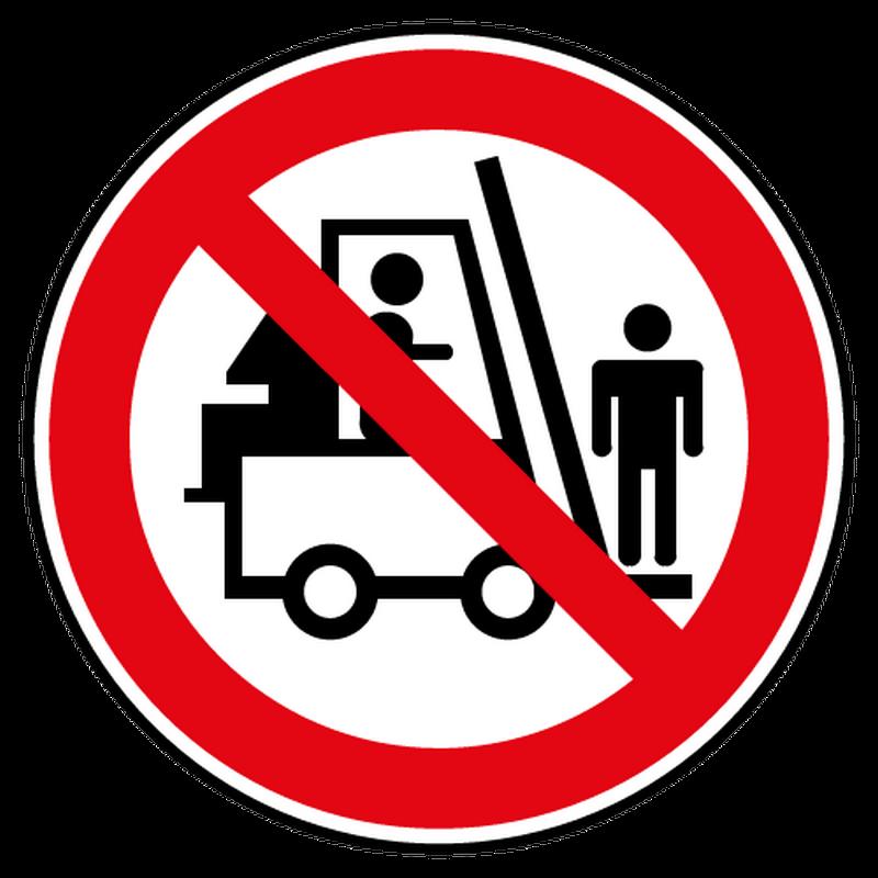 Decal passenger transport prohibited