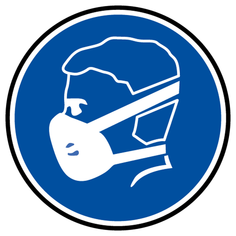 Decal wearing compulsory mask