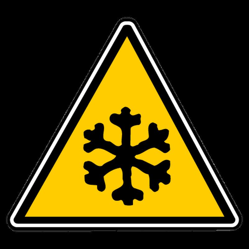 Sticker danger basse temperature