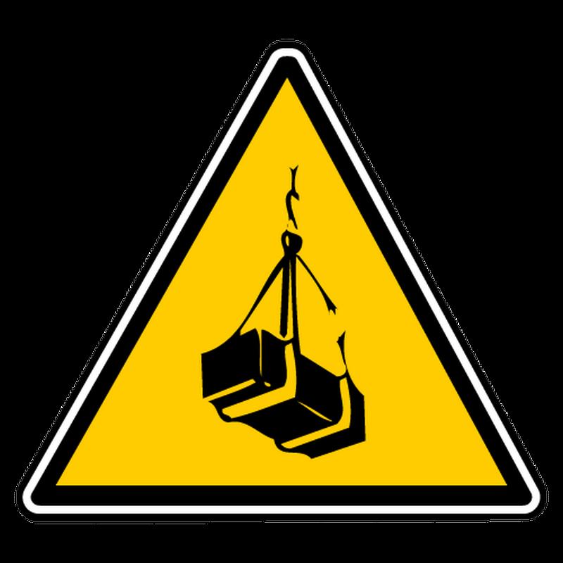 Decal danger suspended loads