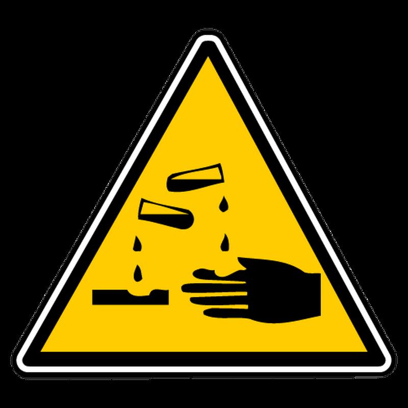 Sticker danger de corrosion