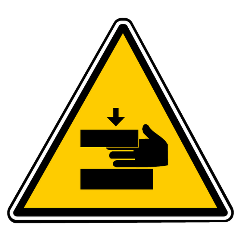 Decal danger of hands crushing 2