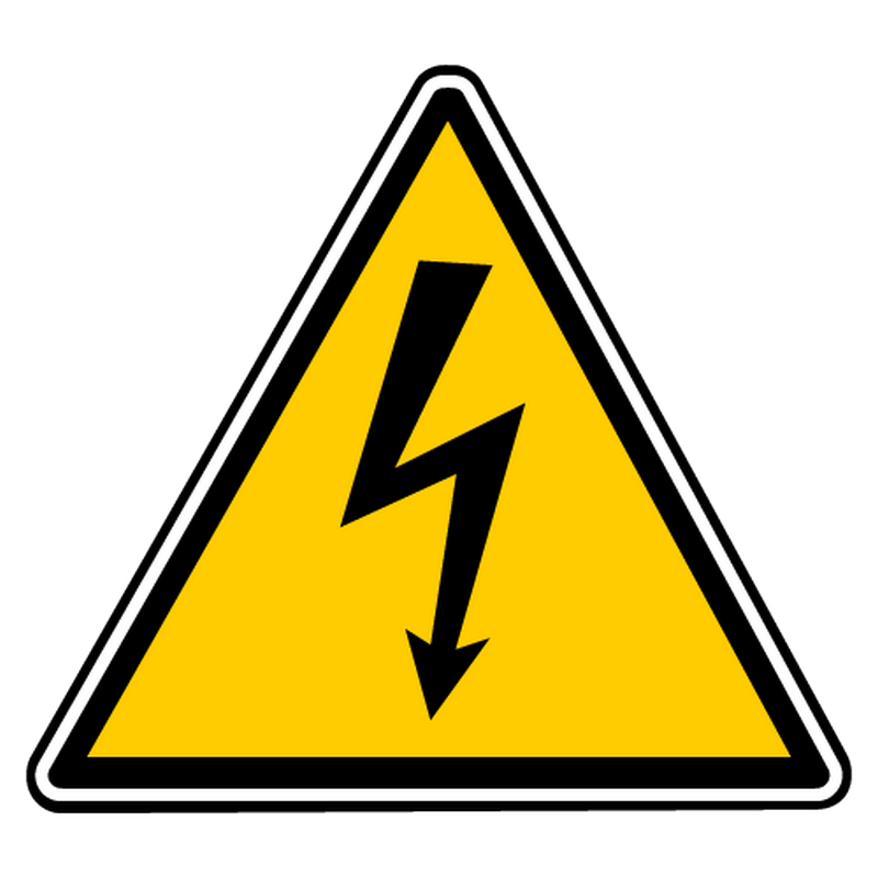 Decal electric danger