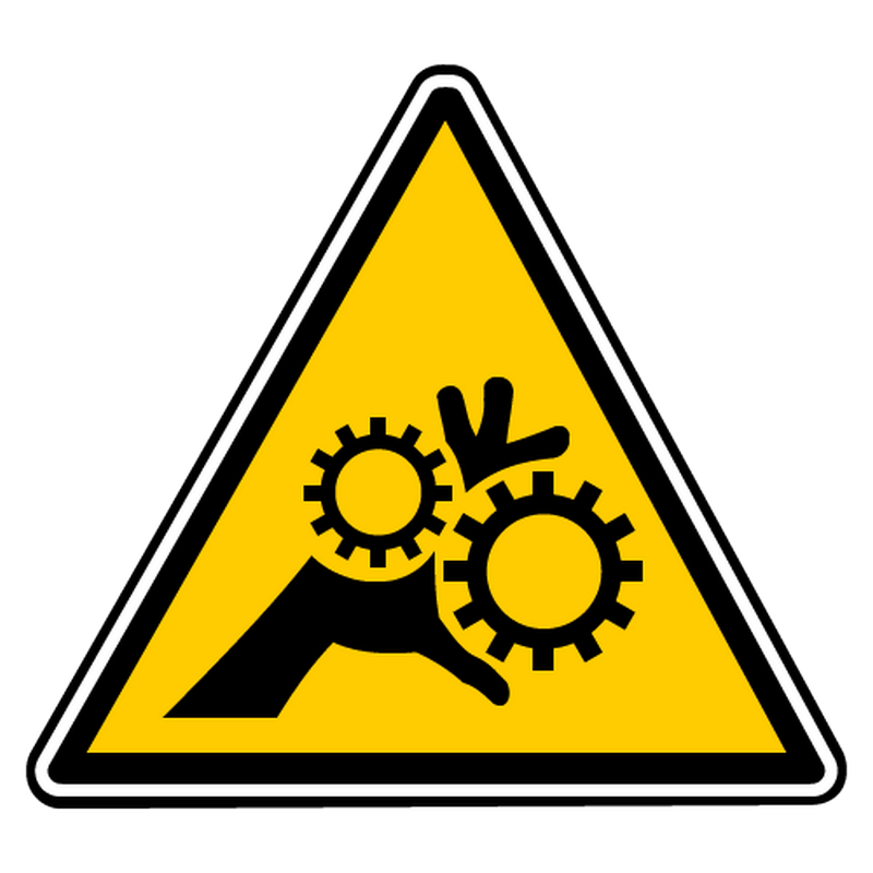 Sticker danger engrenages non proteges 2