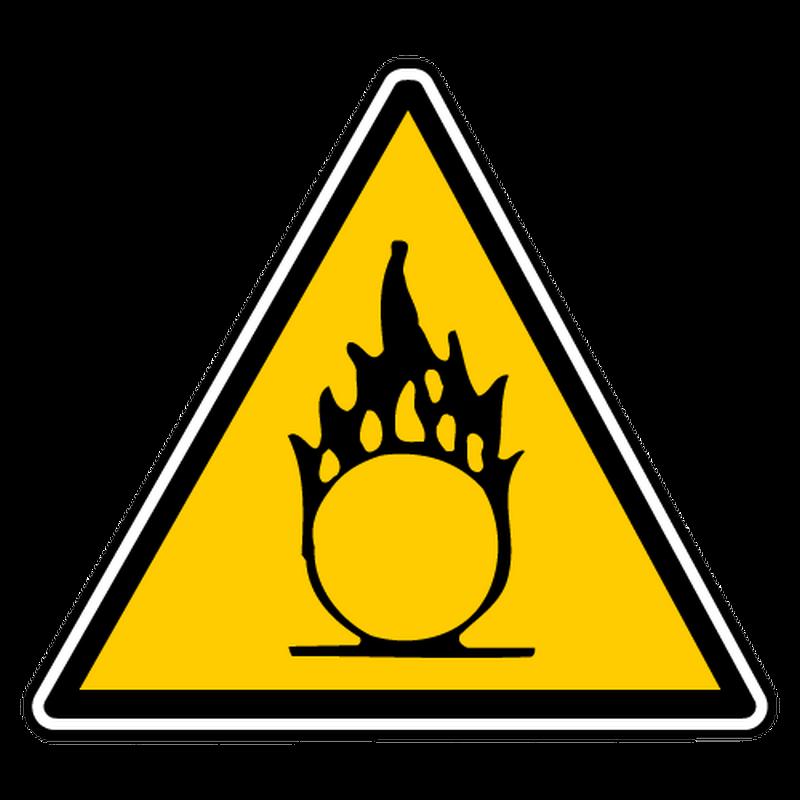 Sticker danger inherent matieres comburantes