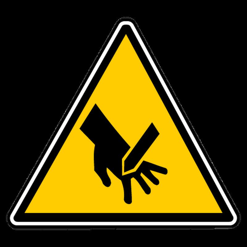 Sticker danger lame non protegee