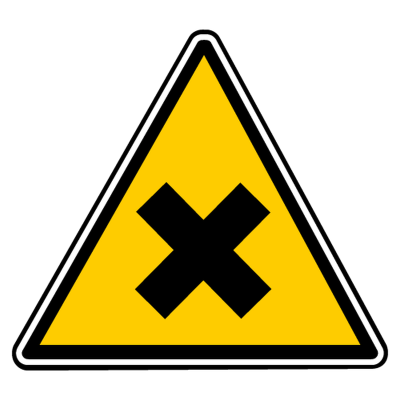 Sticker danger nocivite irritation
