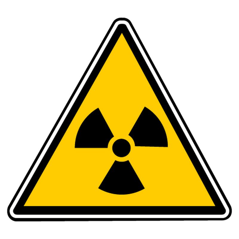 Decal radioactivity danger