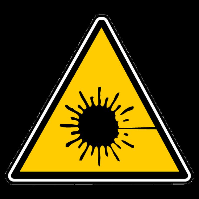 Decal danger laser radiation