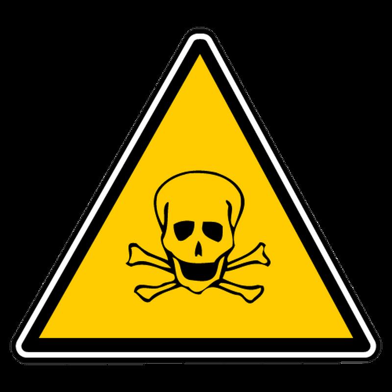 Sticker danger toxicite