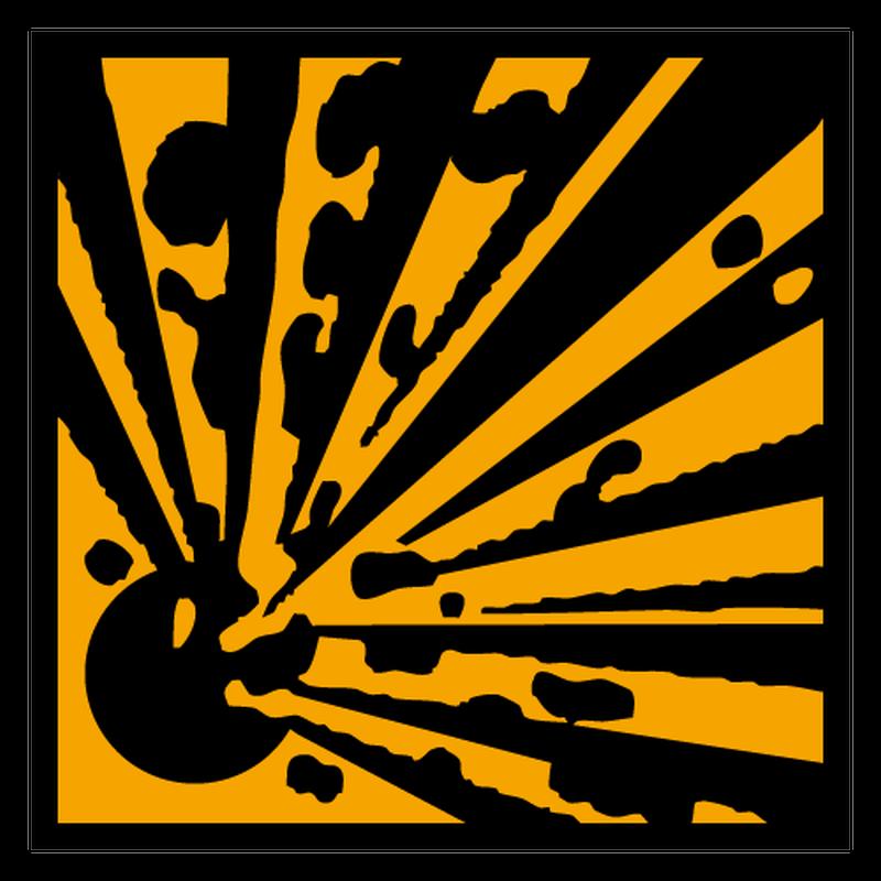 Sticker matiere explosive