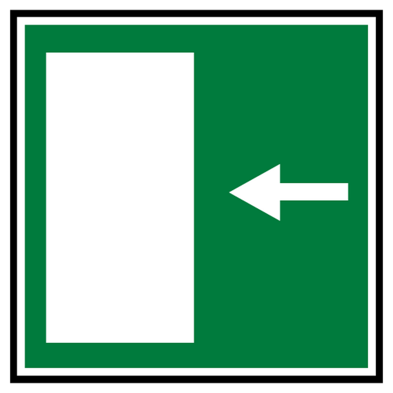 Decal rescue exit 4