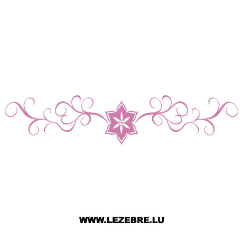 Flower Ornament Decal 10