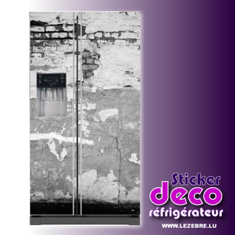 Autocollant d co frigo mur fissur for Autocollant decoratif maison