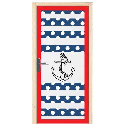 Autocollant pour porte chambre ancre marine for Stickers pour porte chambre