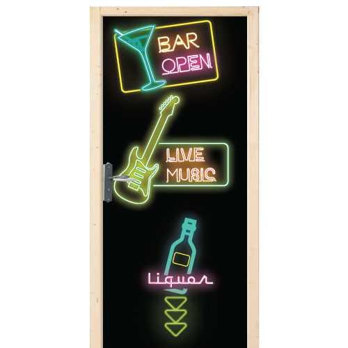 Bar door decal