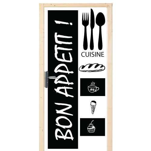 bon appetit door decoration sticker. Black Bedroom Furniture Sets. Home Design Ideas