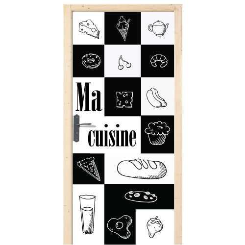 Stickers pour porte de cuisine kazed portes de placard - Stickers miroir cuisine ...