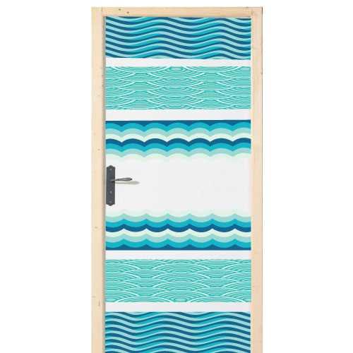 Sea waves door decal