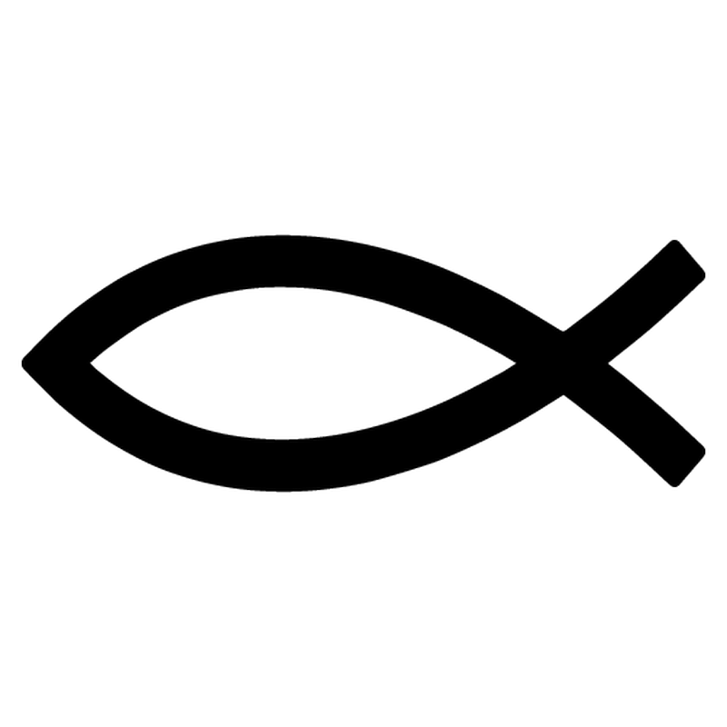 Ichthys Christian Fish Symbol decorative Decal