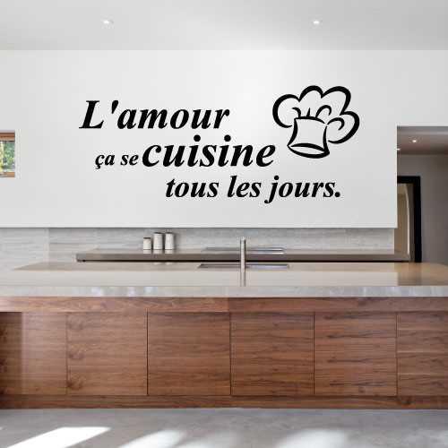 Sticker l 39 amour a se cuisine tous les jours - Cuisine de tous les jours ...