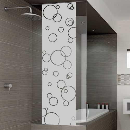 Soap bubbles shower door decal