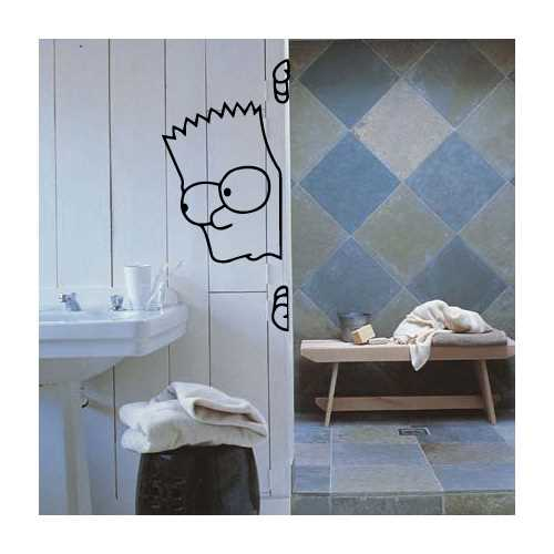 Curious Bart decoration decal