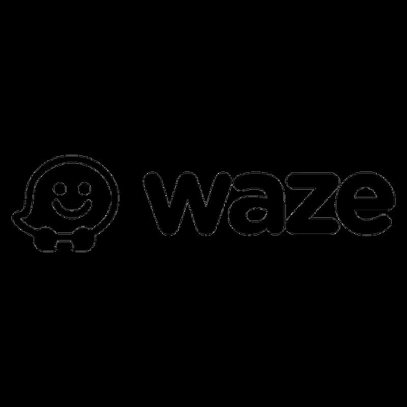 Waze logo decal