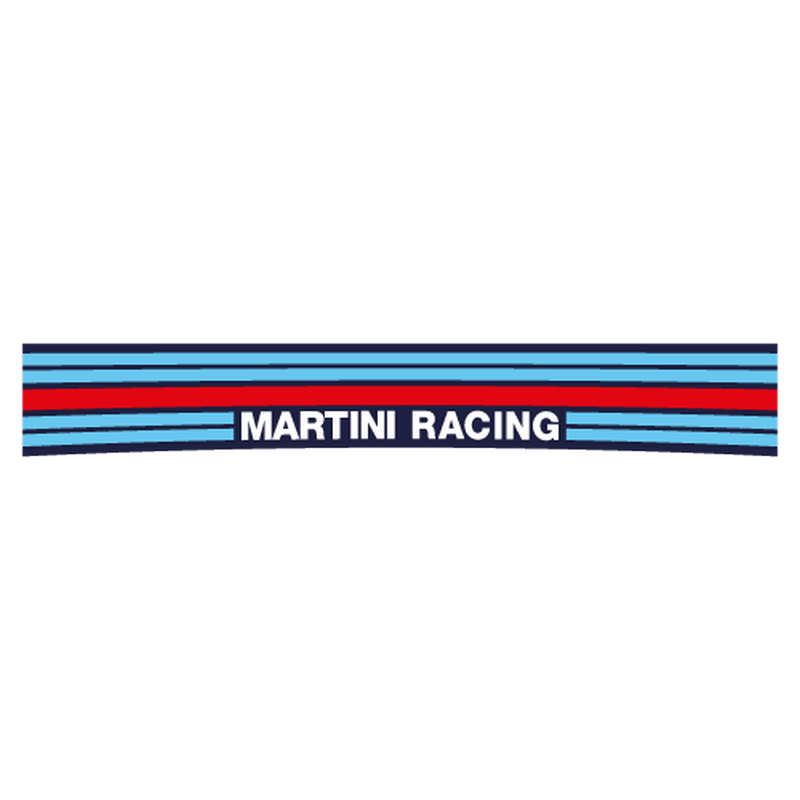 Martini Racing Sunstrip sticker